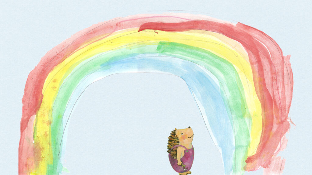 the little hedgehog and the rainbow