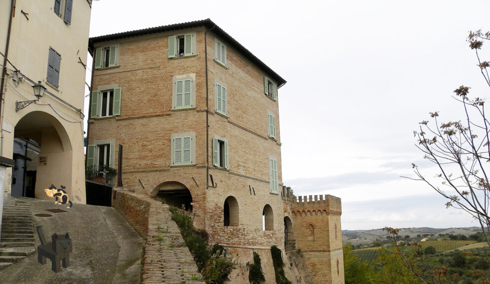 The Italian village Cartoceto