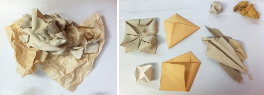 some possible ways to use clay and paper together