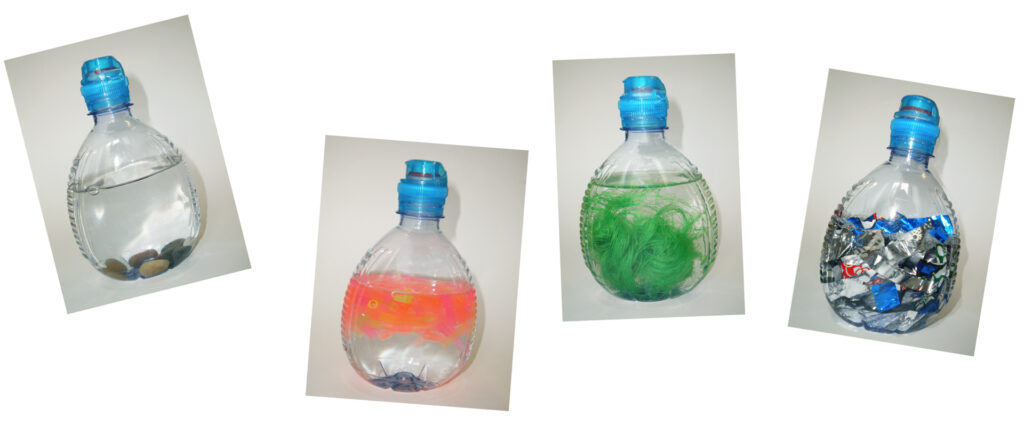 plastic bottled trasformed into toys for children