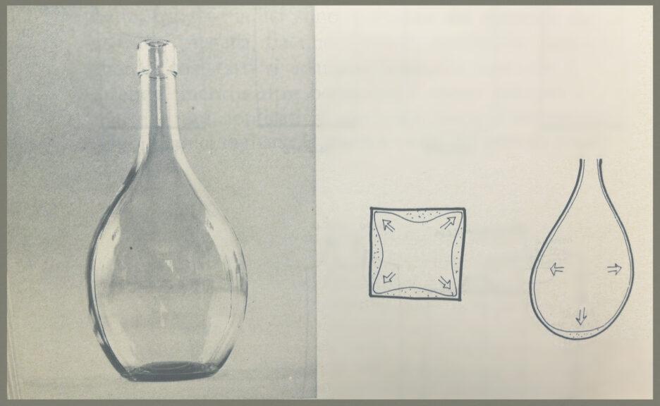 la forma del tradizionale fiasco di vetro