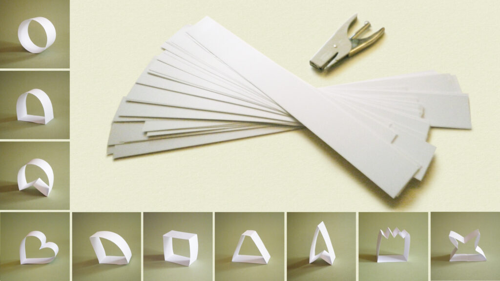 transforming strips of paper and unstructured materials
