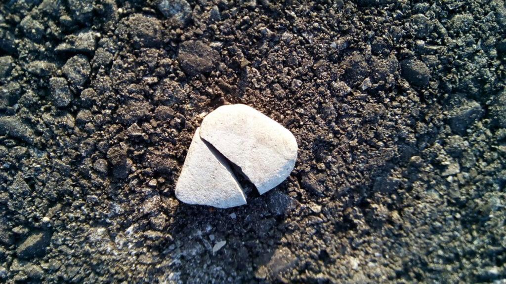 A broken stone