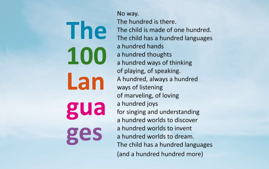 The hundred languages poem