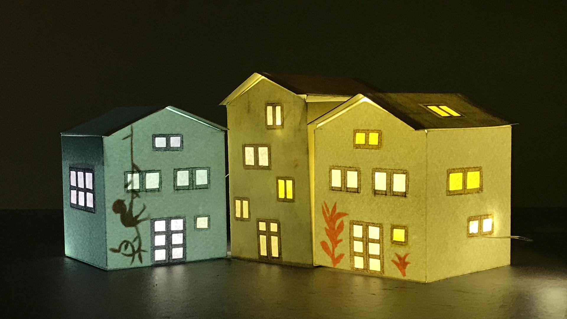 tiny paper houses